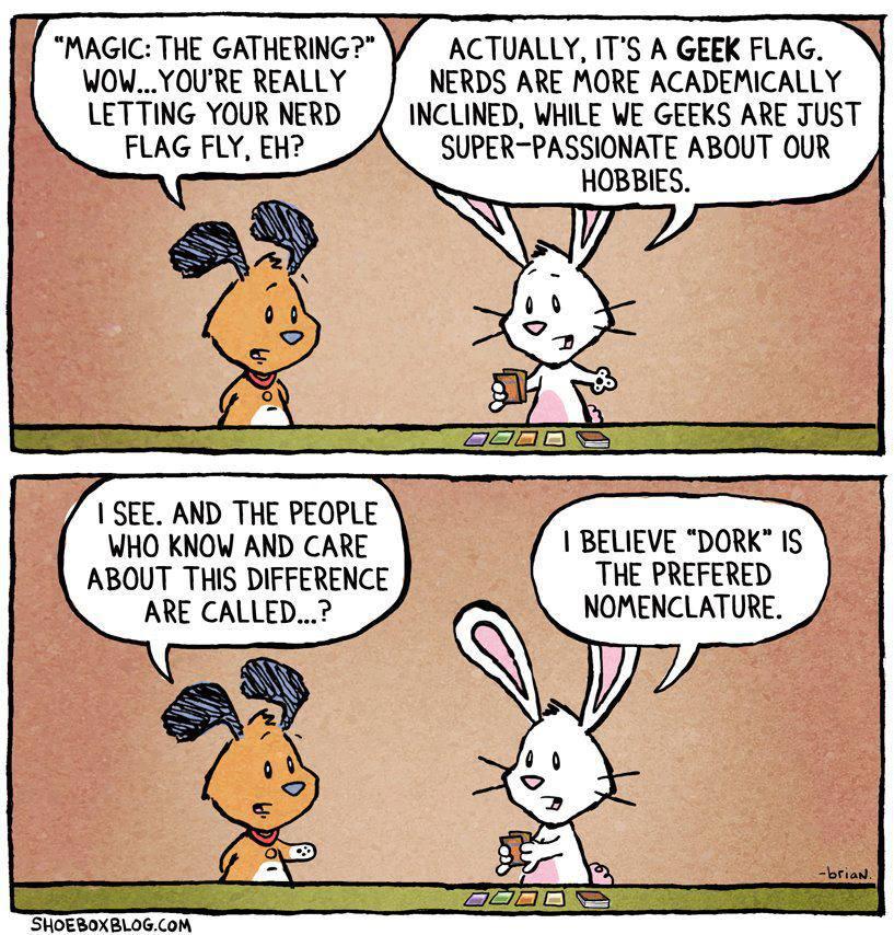 9.6.13 bunny rabbits nerd vs geek