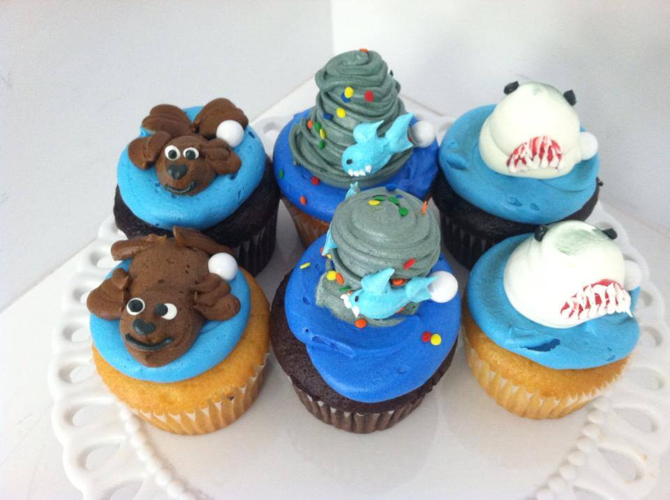 Cakes for occasions shark cupcakes