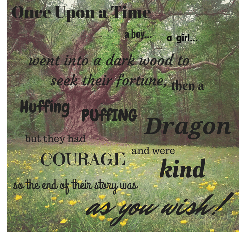 Enchanted tree with Once Upon words